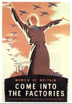 WW 2 British poster encouraging women joining the work force