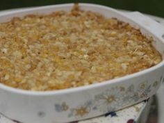 Scalloped Corn Recipe from My Grandmother's Ravioli on the Cooking Channel