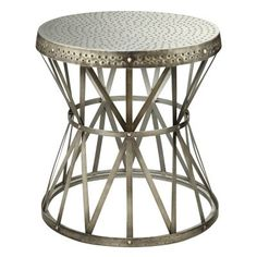 Accent Table in Hammer Antique Nickel - 43329