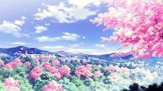 Anime Nature anime nature art animated gif breeze petals