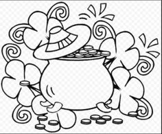 St. Patrick\'s Day Shamrocks and Rainbows - Free Coloring Pages for ...
