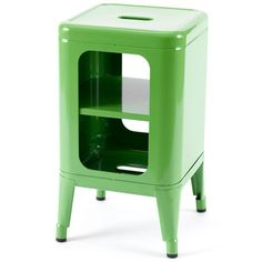 Tolix Children's Stool / Bedside Table - Apple Green