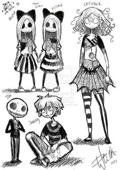 Jack and Sallys children Characterdesign by HorrorPillow on deviantART