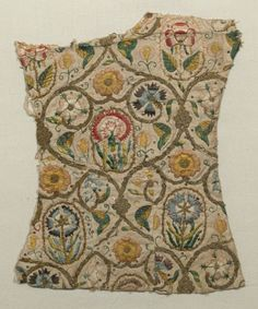 Embroidery fragment  National Trust Inventory Number 1348931 Date1570 - 1599 MaterialsLinen CollectionSnowshill Wade Costume Collection, Gloucestershire (Accredited Museum)