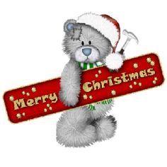 Tatty Teddy Bear - Merry Christmas