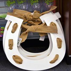 Derby door decor Burlap horseshoe at Celebrations for $42