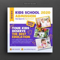 Media Kit Template, Social Media Template, Social Media Ad, Social Media Design, Banners Web, School Advertising, Retro Logos, Vintage Logos, Medical Brochure
