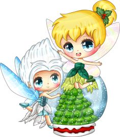 This is the Tinkerbell and Periwinkle- a commission I did for Cynthiabelle I hope you like it. A Magical Christmas Tinkerbell Movies, Tinkerbell And Friends, Tinkerbell Disney, Disney Fairies, Disney Princess Tattoo, Disney Princess Cinderella, Disney Princess Pictures, Princess Cartoon, Punk Princess