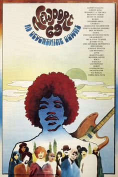 1969 Poster — Newport '69 at Devonshire Downs (Los Angeles, CA) — With 200,000 attendees, this was the largest outdoor rock festival in America until Woodstock.