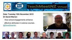 TeachMeetNZ - Warren_Dave Video Link, Presentation, Science, Learning, School, Studying, Teaching, Onderwijs