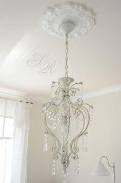 Kronleuchter Lüster Antik Shabby Landhaus Weiß Eisen Metall Lampe Vintage  Neu . | Chandelier  | Pinterest | Kronleuchter, Landhäuser Und Shabby
