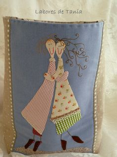 I love it, what a sweet applique for your best friend! For my sister! Wool Applique, Applique Patterns, Applique Quilts, Applique Designs, Embroidery Applique, Machine Embroidery, Quilt Patterns, Fabric Art, Fabric Crafts