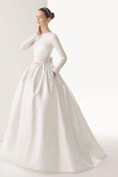 """Ball Gown Elastic Silk Like Satin,Organza,Tulle High Neck Natural Waist Wedding Dress """