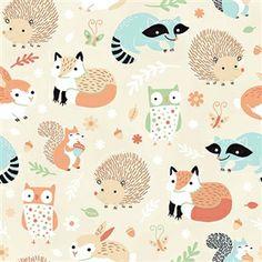 Critter Patch Organic Fabric by Alyssa Thomas | HoneyBeGood
