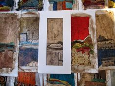 Collage art of Laura Lein-Svencner: Hinsdale Embroiderers Guild today....Demo and Mini Workshop
