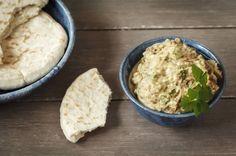 Baba Ghanoush: Dieser Auberginen-Dip mit Koriander passt gut zu frischem Brot oder gegrilltem Fleisch