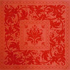 Topkapi Apricot Print Table Linens