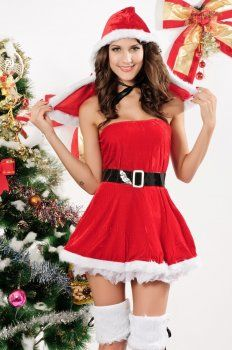 Christmas clothing ( costumes with belt strap )