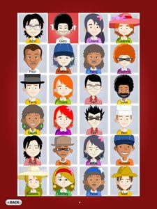 Juego de ¿quién es quién? encontrado en la página creativelanguageclass.com