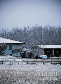 http://fineartamerica.com/featured/aviano-photos-by-zulma.html?newartwork=true  #Aviano #Italy #Snow #farm