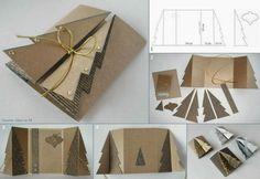 carte de vœux pop-up sapin à fabriquer- idée de bricolage Noël