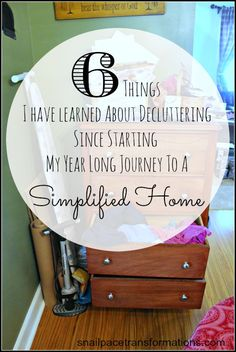 What I Have Learned So Far From 52 Weeks To A Simplified Home