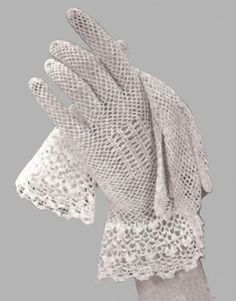 Bridal Gloves Crochet Pattern, Lace Gloves Pattern