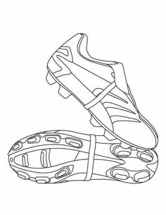 Soccer shoes coloring page. Print out and color this Soccer shoes coloring page. This Soccer . Football Coloring Pages, Sports Coloring Pages, Coloring For Kids, Coloring Pages For Kids, Coloring Books, Coloring Sheets, Art Football, Soccer Art, Football Shoes