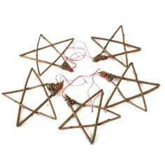 Set of 5 little willow stars