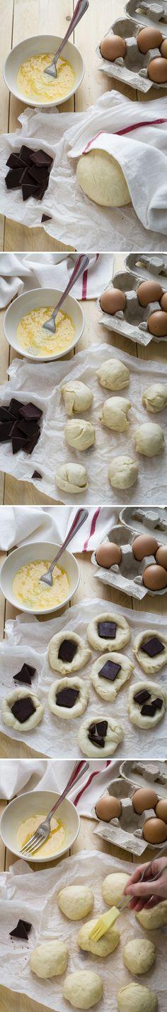 Facilissimi panini al cioccolato - Easy recipe: delicious chocolate buns