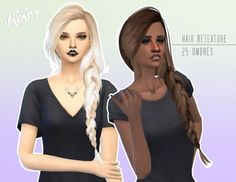 Miss Paraply: 4000 Followers gift hairstyle • Sims 4 Downloads