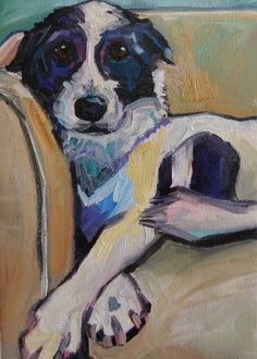 Kaylee on the Couch, painting by artist Elizabeth Fraser