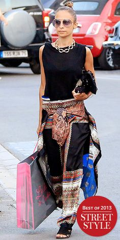 Look of the Day - January 1, 2014 - Nicole Richie from #InStyle