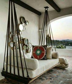 Old Door = Hanging Daybed