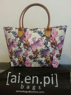 Purple Flower Embroidery Handmade Bag. Still Available, please contact niko.hendratmo@gmail.com for inquiry and orders worldwide