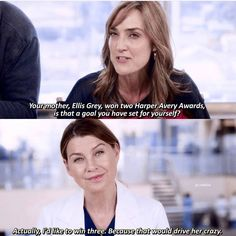 this cracked me up, Meredith and Ellis  were something else.
