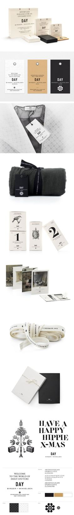 DAY Birger et Mikkelsen branding by BAS. World of Couture Day #identity #packaging #branding PD