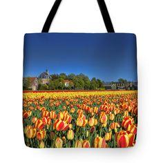 Tote Bags - Tulip Time Tote Bag by Nadia Sanowar