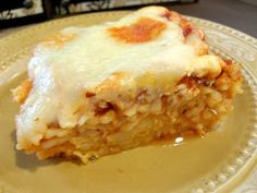 Spaghetti Pie: substitute ricotta for cottage cheese?; Parents Mag variation: toss cooked spaghetti with olive oil, grated Parmesan, pasta sauce & place in greased pie plate; pour 2 beaten eggs on top, top with shredded mozzarella; bake until bubbly about 25 mins