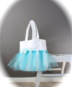 Girls Personalized Frozen Tote Bag / Elsa Bag / Frozen Tutu Tote / Frozen Purse / Birthday Bag / Frozen Gift Bag