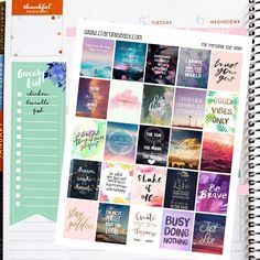Motivational/Inspirational Quotes Printable Planner Stickers Erin Condren Inspirational Quotes by CraftingsEasy on Etsy