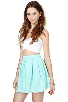 Scuba Skater Skirt - Mint at Nasty Gal