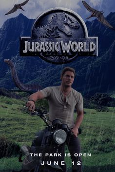 Here's a poster for Jurassic World which is set to release next summer. *I made this poster purely for fun. Jurassic World movie poster Jurassic World Movie Poster, Jurassic World 2015, Jurassic Park Series, Jurassic Park 1993, Jurassic World Fallen Kingdom, Dinosaur Movie, Club Poster, Movie Club, World Movies