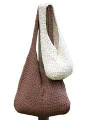 For groceries, the beach or everyday use, these bags are a fabulous way to carry your stuff in style. Pattern includes 2 sizes and is worked in worsted weight yarn.