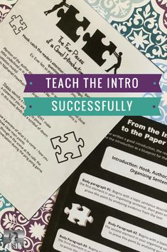 Formal Writing: Teaching ELA students to write strong introductions makes the rest of the paper SO MUCH easier to grade! A clear intro that hits the specific elements taught in this print and go resource pack will save you oodles of response time later on.