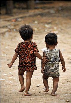 Children in a remote village, Cambodia.