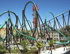 Six Flags Magic Mountain, California.