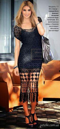 Patrones de vestido de exclusivo diseño al crochet