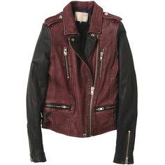 Leather jacket (260 AUD) ❤ liked on Polyvore