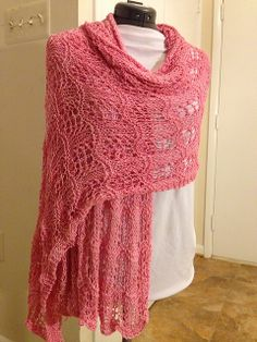 Free Pattern: Crest of the Sugar Wave Shawl by Rosemary Peek